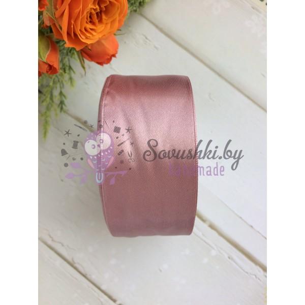 Лента атласная 38 мм, пудрово-розовый