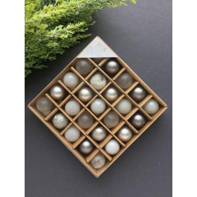 Набор шаров из стекла для елки (микс 2)