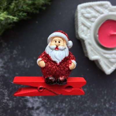 Прищепка декоративная Дед Мороз