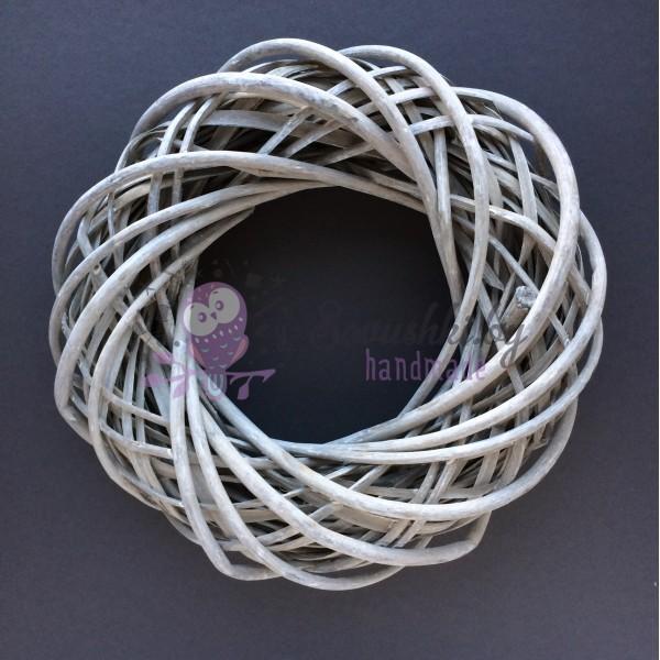 Венок плетеный из лозы D=40, серый