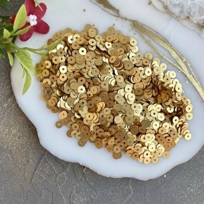 Пайетки круглые 4 мм (10 гр), золото №1