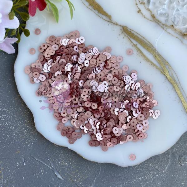 Пайетки круглые 4 мм (10 гр), розовый №3