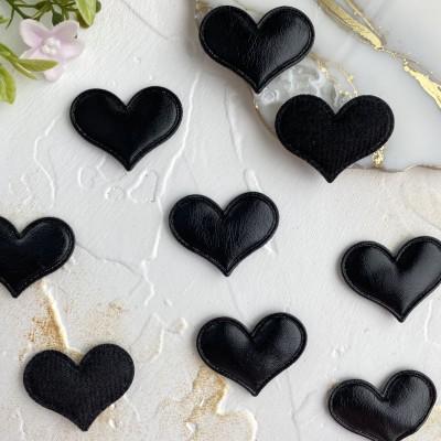 """Патч 3D """"Сердце"""" черный"""