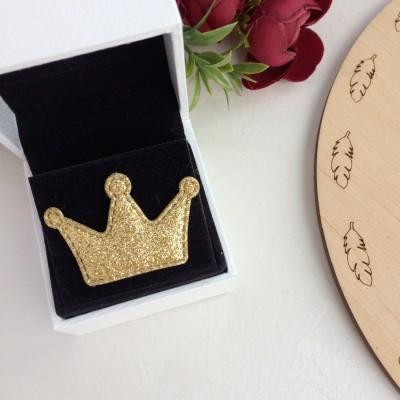 Патч с блестками Корона, золото