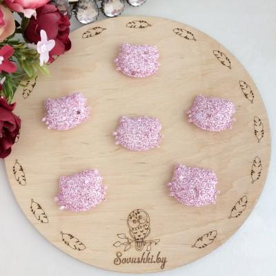 Патч 3D с блестками Hello Kitty розовый