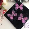 Шифоновые бабочки, розовые
