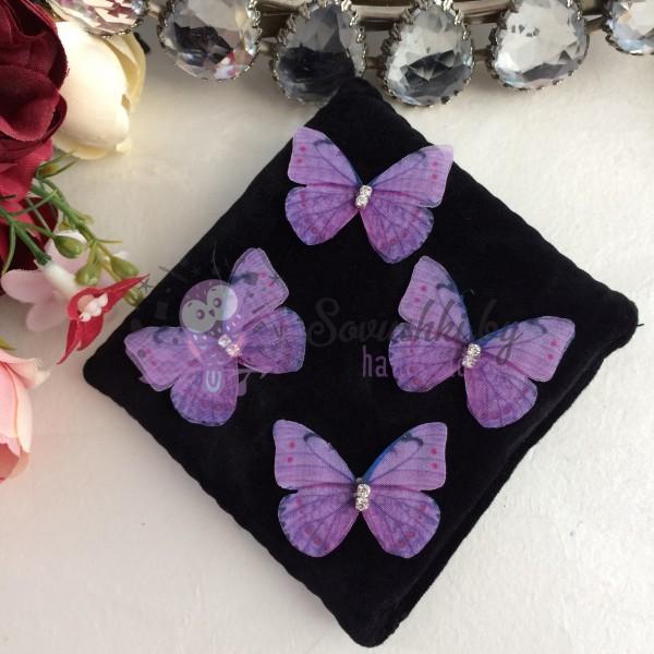 Шифоновые бабочки, фиолетовые