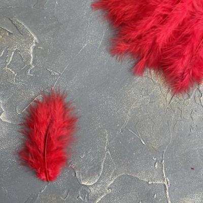 Перья декоративные, красный