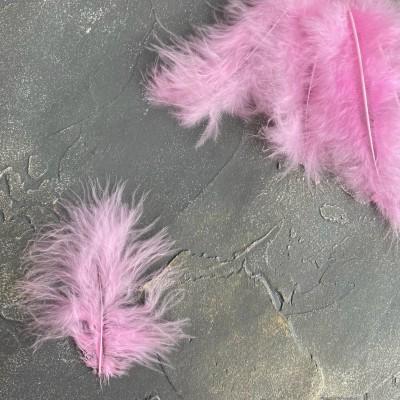Перья декоративные, розовый