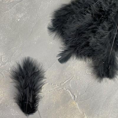 Перья декоративные, черный