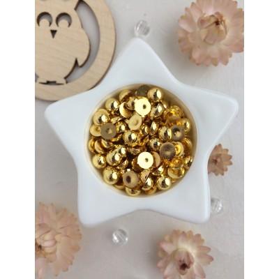 Полубусины 6 мм, металлик золото