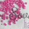 Полубусины 6 мм радужные, розовый