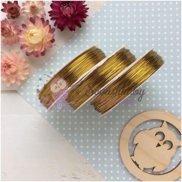Проволока для бисероплетения 0,3 мм (золото)