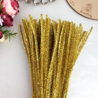 Синельная проволока (шенил) 30 см, золото металлик