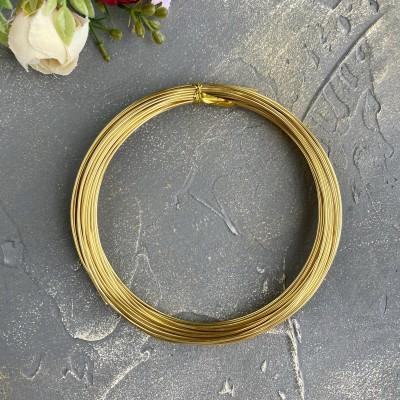 Проволока 1 мм, светлое золото