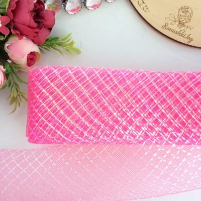 Регилин плоский с люрексом, темно-розовый