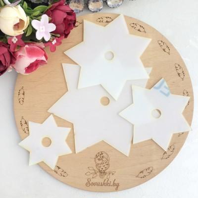 Набор шаблонов для бантика Звезда 7