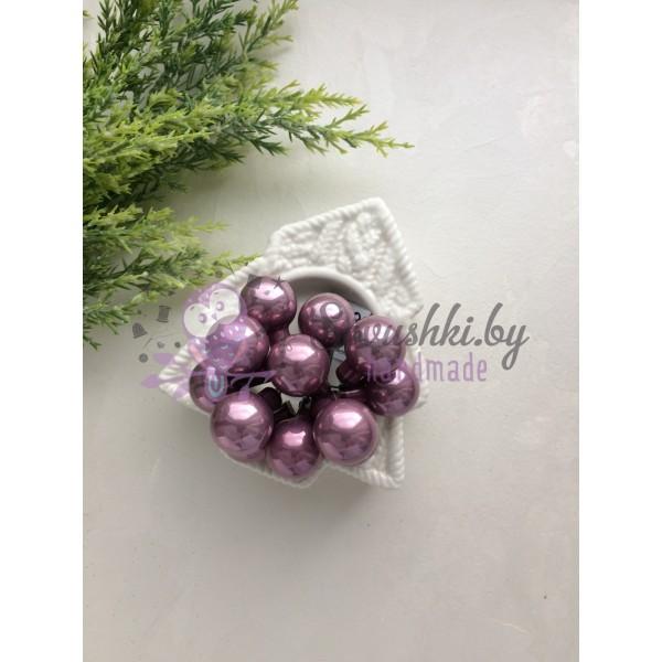 Декор новогодний шары на проволоке стальной стальной розовый