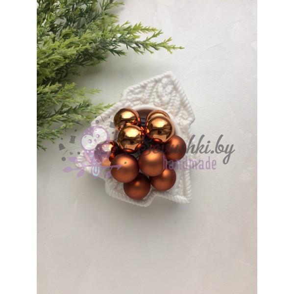 Декор новогодний шары на проволоке золотые
