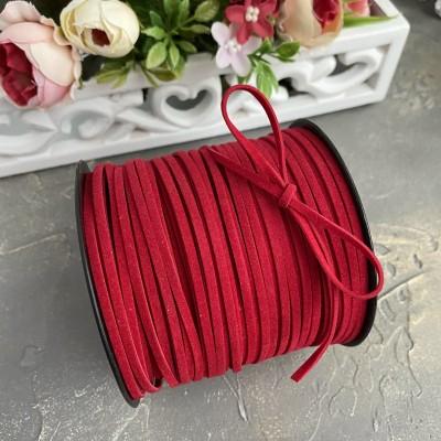 Бархатный шнур, темно-красный