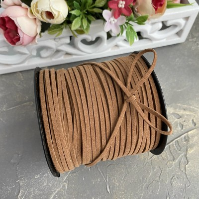 Бархатный шнур, коричневый (1)
