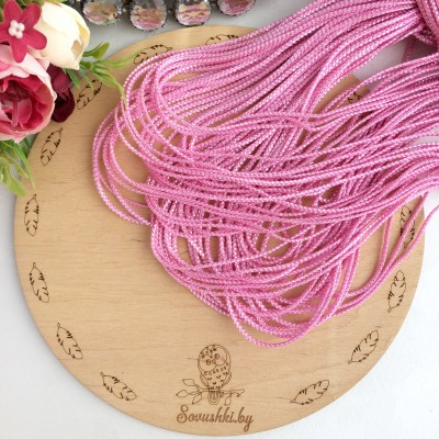 Шнур декоративный с люрексом розовый