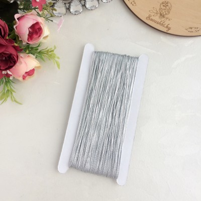 Шнур (нить) декоративный 2 мм, серебро