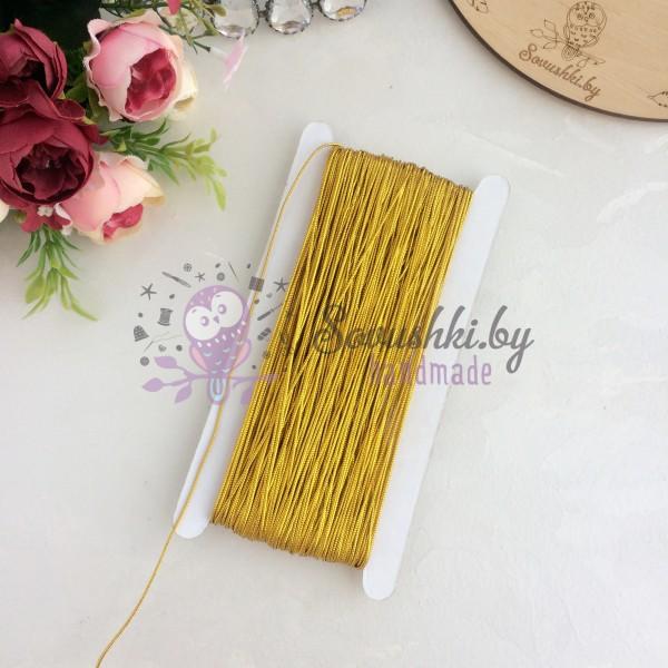 Шнур (нить) декоративный 2 мм, золото