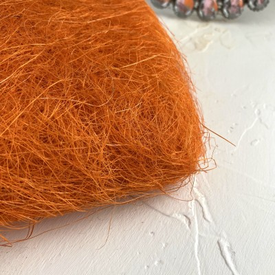 Сизаль, ярко-оранжевый