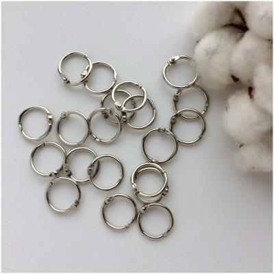 Кольца для скрапбукинга (фотоальбома) серебро 2 см