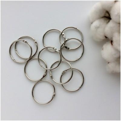 Кольца для скрапбукинга (фотоальбома) серебро 3,5 см