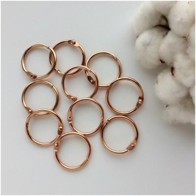 Кольца для скрапбукинга (фотоальбома) медь 3 см