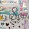Чипборд вырубной для скрапбукинга с фольгированием My sweet love