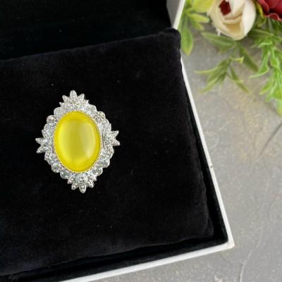 Серединка ювелирная, желтый/серебро