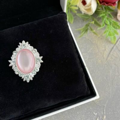 Серединка ювелирная, светло-розовый/серебро