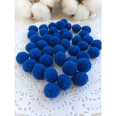 Помпоны Premium 1 см, синий