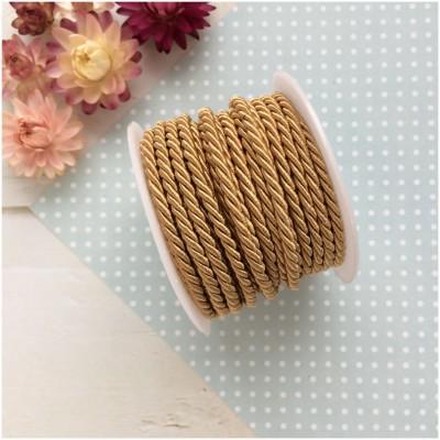 Шнур плетеный текстильный 3 мм (золото)
