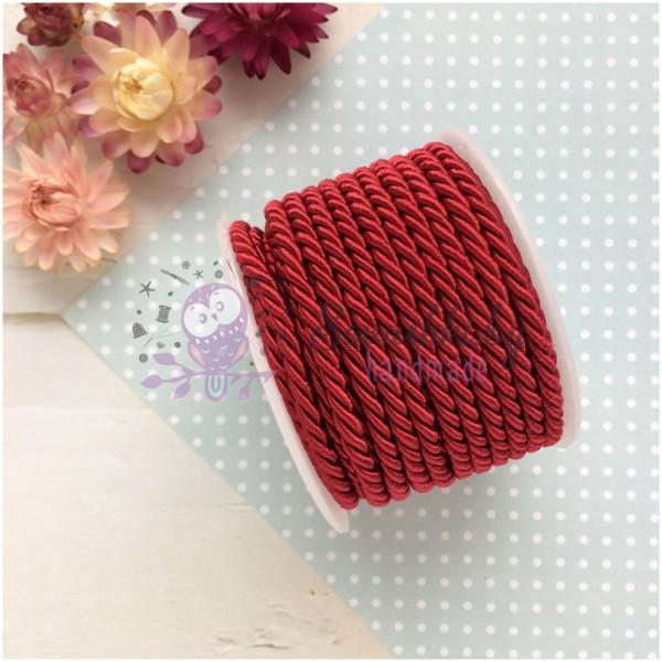 Шнур плетеный текстильный 3 мм (красный)