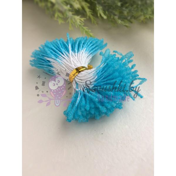 Тычинки пушистые в сахарной обсыпке голубые