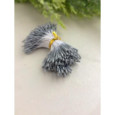 Тычинки пушистые в сахарной обсыпке серебристые