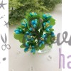 Букетик из тычинок, двухцветные голубые
