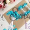 Тычинки гладкие глянцевые голубые (25 нитей)