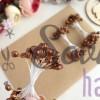 Тычинки гладкие глянцевые коричневые (25 нитей)