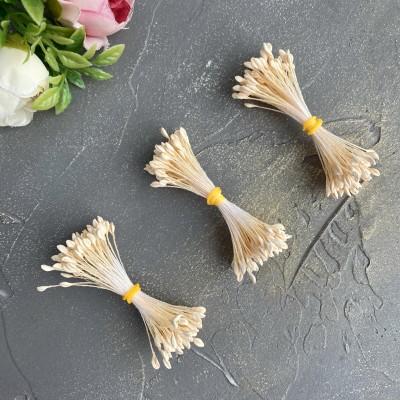 Тычинки для цветов пастельно-персиковый матовые ( 80 нитей)
