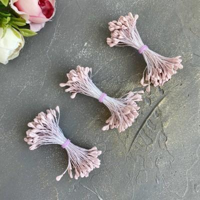 Тычинки для цветов пастельно-розовые матовые ( 80 нитей)