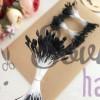 Тычинки для цветов черные матовые ( 75 нитей)