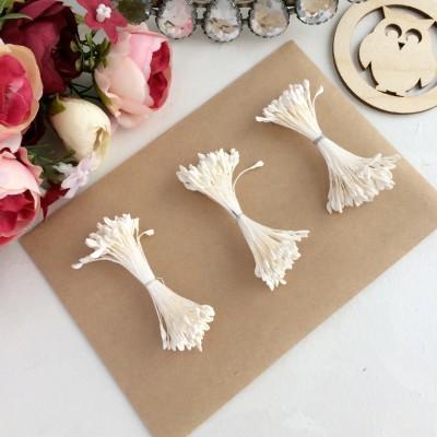 Тычинки для цветов кремовые матовые ( 75 нитей)