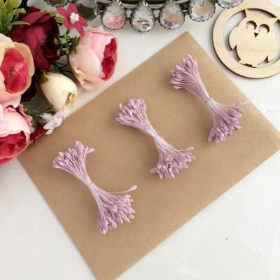 Тычинки для цветов пастельно-розовые матовые ( 75 нитей)