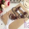 Тычинки для цветов шоколадные мелкие (75 нитей)
