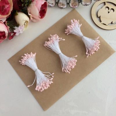 Тычинки с блестками светло-розовые (75 нитей)